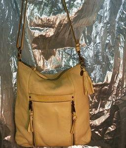 The Sak Collective Yellow Leather Crossbody Purse
